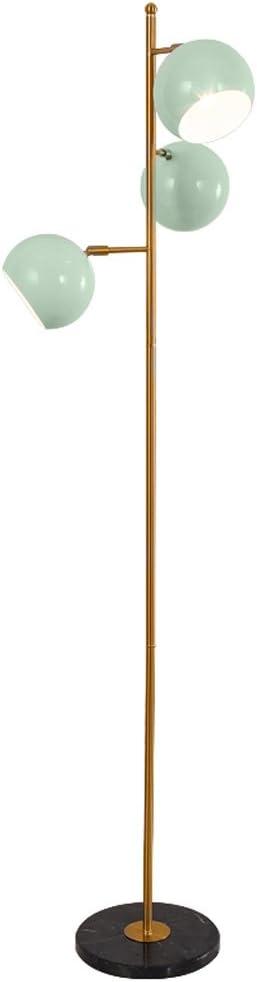 Lámparas de Pie Prime Personalidad creativa Tres cabezas Vertical Single Pole Sofa Lámpara de pie, azul claro Semicircular ajustable ángulo Pantalla Sala de estar Comedor Dormitorio Lámpara de pie, Ba: Amazon.es: Iluminación