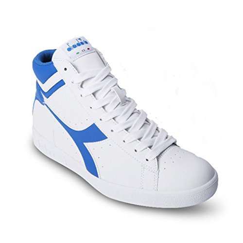 Diadora Game P High, Zapatilla de Deporte de Cuello Alto Unisex Adulto WHITE/MICRO BLUE