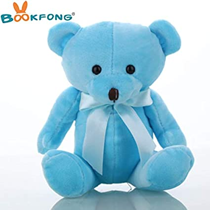 JEWH Lovely Teddy Bear Plush Toys - Small Doll Bears for Wedding - Cartoon Flower Bouquet