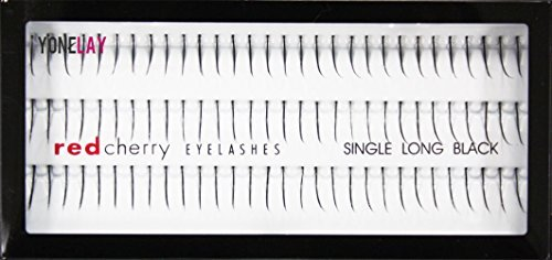 Red Cherry Single Long Individual Lashes, Black by Red Cherry