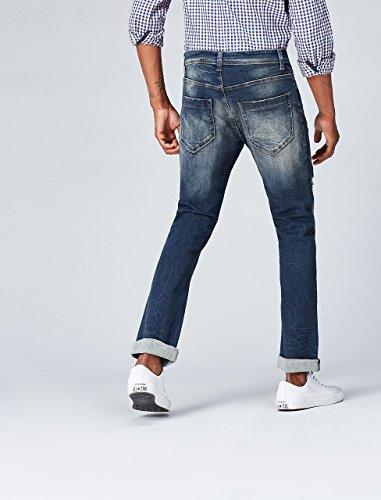 Find Uomo Jeans Damaged Blu Dritti Wash hardin 7B7dwrx