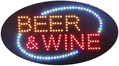 LED Beer Bar Wine Liquor Spirits Open Light Sign Super Bright Electric Advertising Display Board for Pub Club Bistro Business Shop Store Window Bedroom HSB0622, 27 x 15 inches