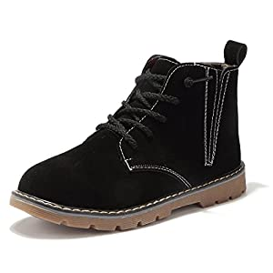 BTDREAM Boy's and Girl's Side Zipper Ankle Snow Boot Warm Winter Outdoor Walking Shoes