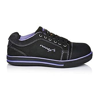 ruNNex S3GirlStar ESD'5380'Chaussures de sécurité mi-hautes et légères pour femme Noir, 35 EU, noir