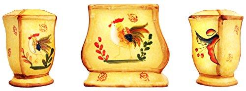 Bamboo Rooster Napkin, Salt & Pepper Set,