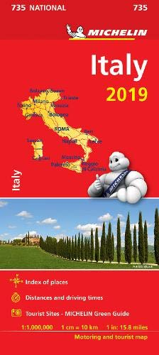 Italy 2019 - Michelin National Map 735: Map (Michelin National Maps) (Italy Driving Map)