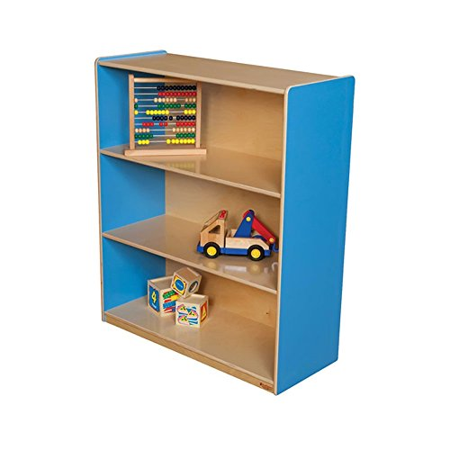 Wood Designs Kids Play Toy Book Plywood Organizer Wd12942B Blueberry Bookshelf, 42''H by Wood Designs