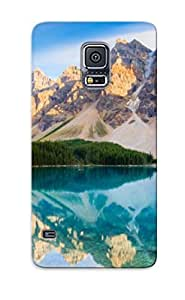 Catenaryoi Durable Defender Case For Galaxy S5 Tpu Cover(turquoise Lake In The Mountains ) Best Gift Choice