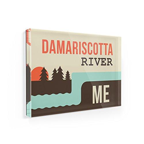 Fridge Magnet USA Rivers Damariscotta River - Maine - NEONBLOND