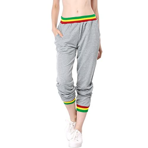 7ad61b373949 best Allegra K Women s Elastic Waist w Pockets Hip Hop Casual Trousers