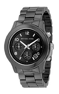 Michael Kors Fashion MK5164 - Reloj cronógrafo de cuarzo para hombre, correa de cerámica color negro (cronómetro)