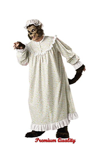 InCharacter Costumes Big Bad Wolf Adult Night Gown Costume, Multi Colored, X-Large -
