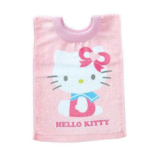 Hello Kitty Baby Bib Towel Pull Over Cotton Pink