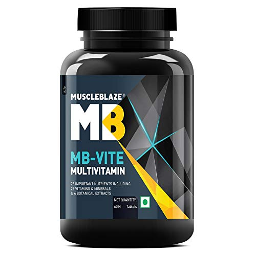 MuscleBlaze MB-Vite Multivitamin with Immunity Boosters and Digestive Enzymes, 100%  RDA of…