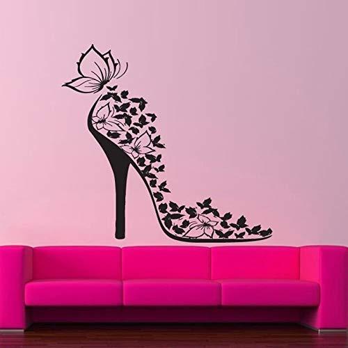 Yiyitop Girl Shoe Butterfly Wall Stickers Para Sala De Estar