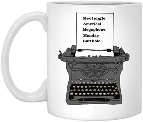 Taza Maureen52Dorothy Ron Swanson, máquina de escribir, Parks ...