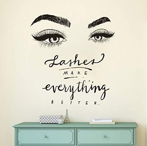 Meaosy アイラッシュアイウォールデカール ビューティーサロン デコラッシュ 「Make Everything Better Quote Wall Mural Vinyl まつ毛 眉毛ステッカー」 B07HH5V5F2