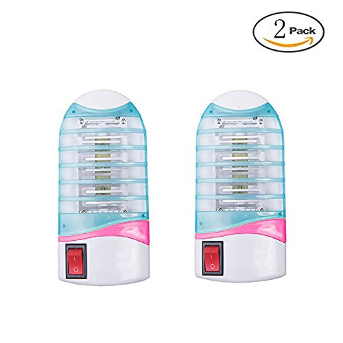 Bug Zapper Mosquito Killer,Lamp Mosquito Trap,Electronic Insect Killer,Mosquito Zapper,Night Light ,Eliminates Most Flying Pests 2 Pack Bar Blue