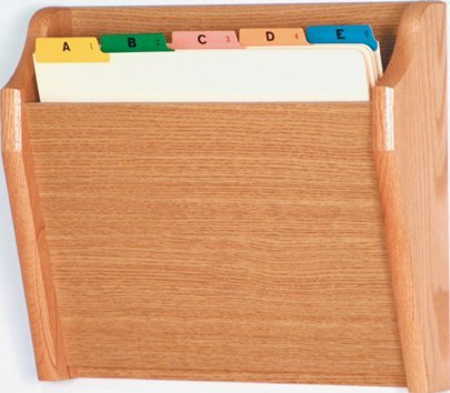 Wooden Mallet CH14-1 Light Oak Single Pocket Wall Mounted File / Chart Holder