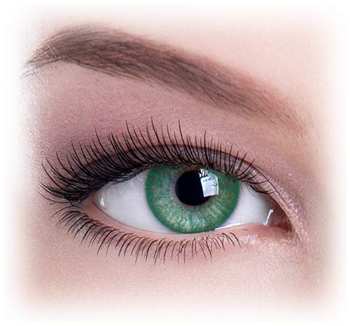 Unisex Charming and Attractive Lenses Cosmetic Makeup Eye Shadow Pure Green (Contact Eyes Color Green)