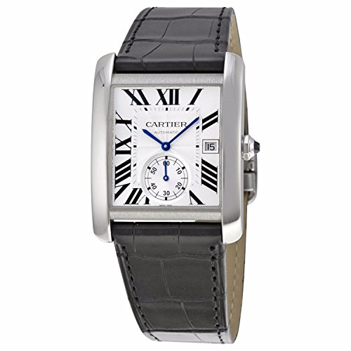 Cartier Men's W5330003 Tank MC Analog Display Automatic Self Wind Black Watch