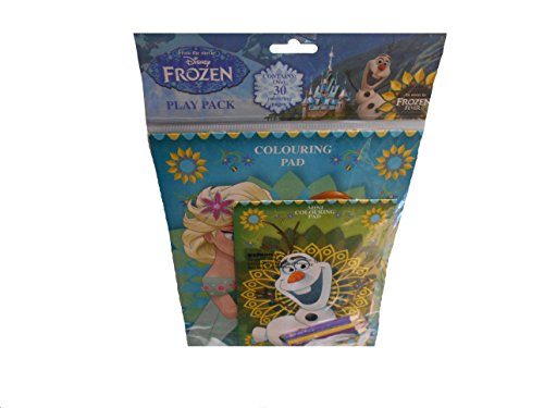 Disney Frozen Play Pack Colouring Pads & Coloured Pencils Gift Bag Idea Elsa Anna (Min Miss A Halloween)