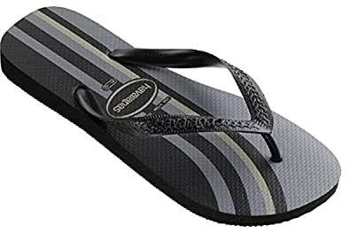 Havaianas Men's Top Flip Flop (39 M EU / 8 D(M) US, Black Curve)