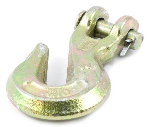 Grade 70 Clevis Hook (Forney 61047 Clevis Grab Hook, Grade 70 Yellow Zinc, 3/8-Inch)