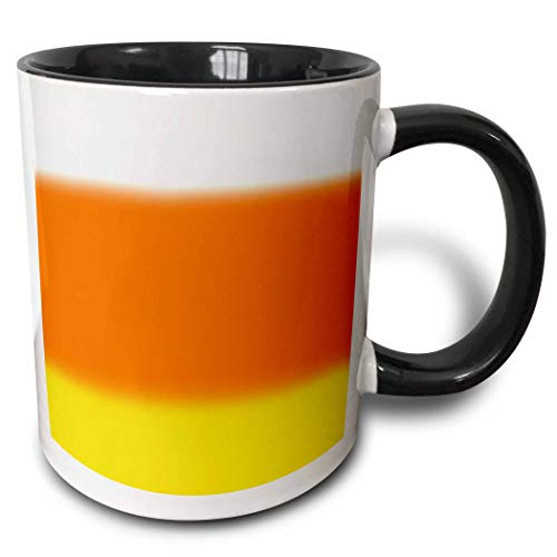 3dRose BlakCircleGirl - Design - Candy Corn Ombre - Fun ombre in Halloween candy corn colors - 15oz Two-Tone Black Mug (mug_286959_9)]()