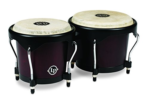 Latin Percussion LP601NY-DW LP City Wood Bongos - Dark Wood by Latin Percussion