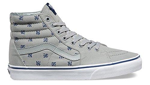 Vans Mens Vans x MLB Yankees Sk8-Hi Heather Grey/Yankees Print Skateboard shoe (US 3.5) m8oo4Pk