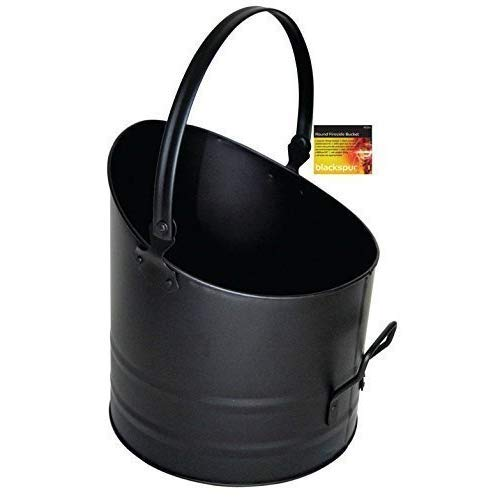 Blackspur BB-FS316 Round Fireside Bucket, Black