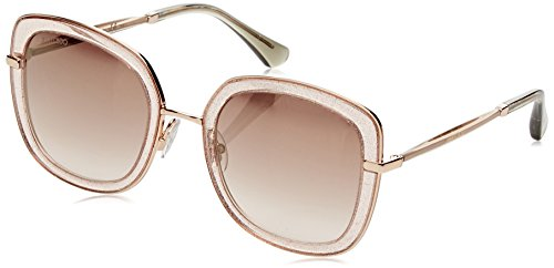 Jimmy Choo Glenn/S Sunglasses Nude Glitter / Brown Mirror - Choos Nude Jimmy