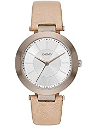 DKNY Womens Stanhope Quartz Stainless Steel and Beige Leather Casual Watch (Model: NY2459)