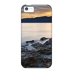 Saraumes Slim Fit Tpu Protector NgWdowj1877ffCVy Shock Absorbent Bumper Case For Iphone 5c