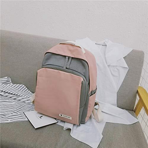 Sacs gj Le Dos de Dos Sac Campus Sac Voyage Pink Loisirs étanche Femme Sac de Pink Nouveau Couleur à Sport à l'eau d'étudiant Sac Sac Gray Sac à à de gray Dos SwrISq