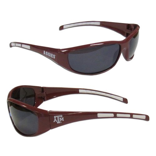 NCAA Collegiate Team Logo Sports Wrap Sunglasses - Choose Team! (Texas A&M - Logo Sunglasses M