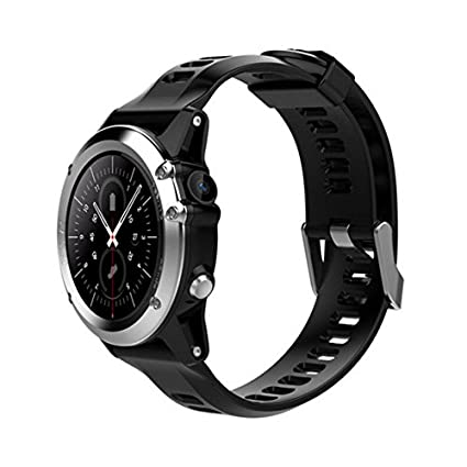 e644b3b5e3737f Amazon.com: H1 Smart Watch Android 5.1 OS Smartwatch MTK6572 512MB 4GB ROM  GPS SIM 3G Heart Rate Monitor Camera Waterproof 30M Diving Sports  Wristwatch ...