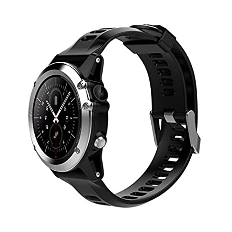 H1 Smart Watch Android 5.1 OS Smartwatch MTK6572 512MB 4GB ROM GPS SIM 3G Heart Rate Monitor Camera Waterproof 30M Diving Sports Wristwatch (Silver)