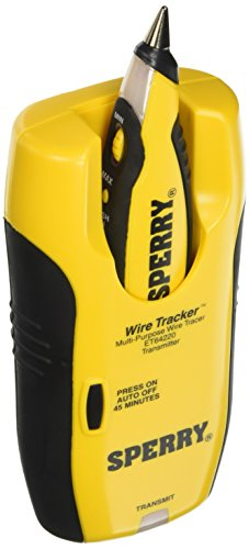- Sperry Instruments ET64220 Wire Tracker Wire Tracer, Audio / Video Installers Must-Have, for Coax, CAT 5, Speaker & Phone, Adapter plugs: RJ-45, RJ-11, Coax & More