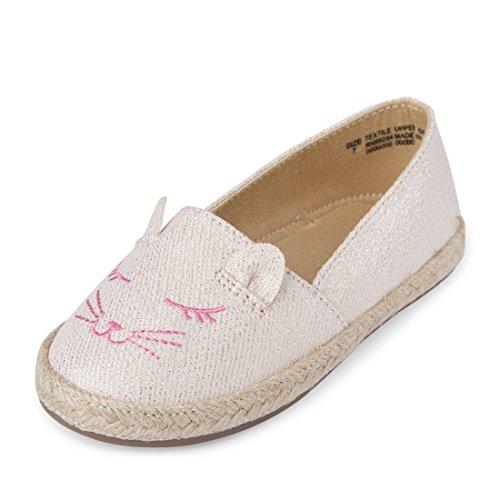 Girls' TG Cat Espadrill Slipper, Pink Blush, TDDLR 4 Medium US Infant ()