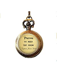 Captain Hook Prepare to Meet Thy Doom Pocket Watch Necklace