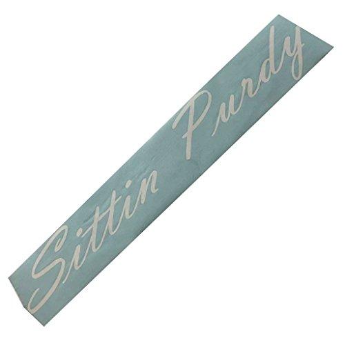 Chevy Windshield Decals (Sittin Purdy Windshield Banner Decal / Sticker 7
