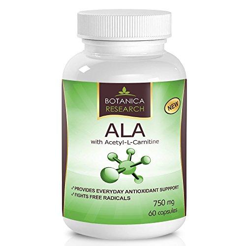Alpha-lipoïque avec Acetyl L Carnitine - Anti Aging supplément formule avec ALA & ALC pour augmenter l'énergie et Fatigue de fournir des secours 60 capsules