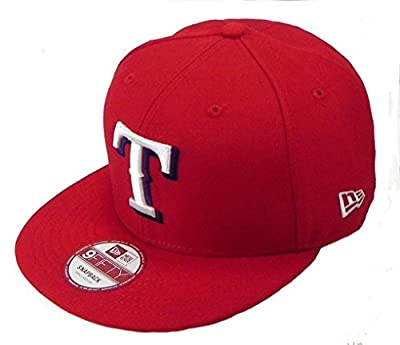 New Era Texas Rangers Link MLB Snapback Men Hat Cap Red 9fifty (M/L)