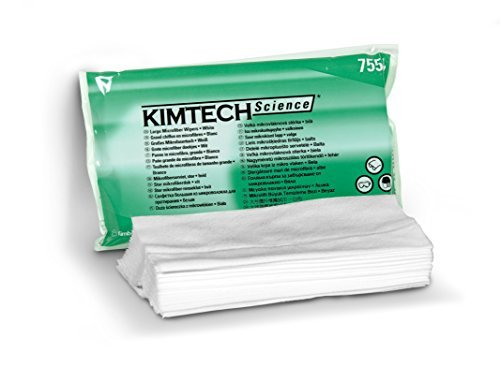 Kimberly-Clark Kimtech Science Disposable Delicate Task Wipers: Microfiber Material. 7.09 x 7.87 in. (18x20cm) 20 Pcs. Per Packet x 10 Packets = 200 count.