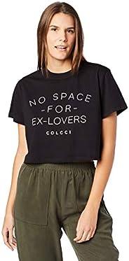 Camiseta Cropped: No Space For Ex-Lovers, Colcci, Feminino