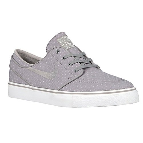 Wht Skateboard Shoe - Nike Mens Zoom Stefan Janoski Cnvs Prm Medium Grey/Mdm Grey/Smmt Wht Skate Shoe 9.5 Men US