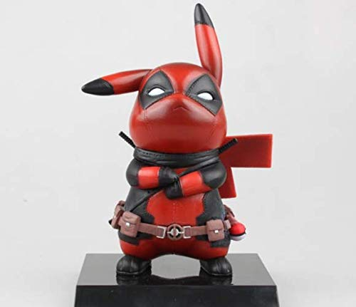 RULONG 1PC NEW Pokemon Deadpool Cosplay PVC Action Figure Statues Model Toys Gifts