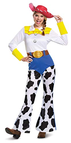 Character Couple Costumes (Disguise Women's Disney Pixar Toy Story and Beyond Jessie Costume, White/Black/Blue/Yellow,)